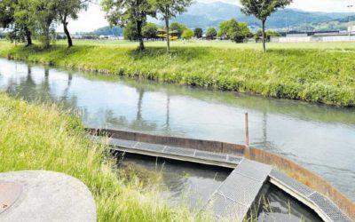 Kanalwasser für den Zapfenbach